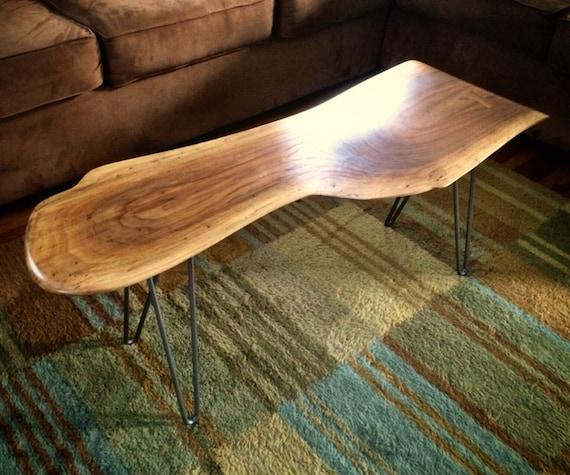 SOLD Live Edge Walnut Slab Coffee Table
