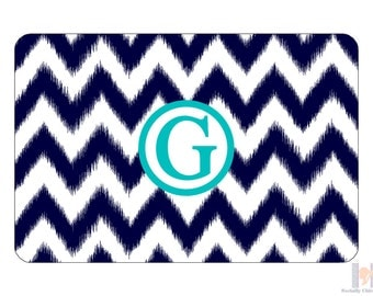 Chevron Ikat Serving Tray. Be the perfect hostess and entertain with style! A unique wedding or birthday gift! Choose your color!