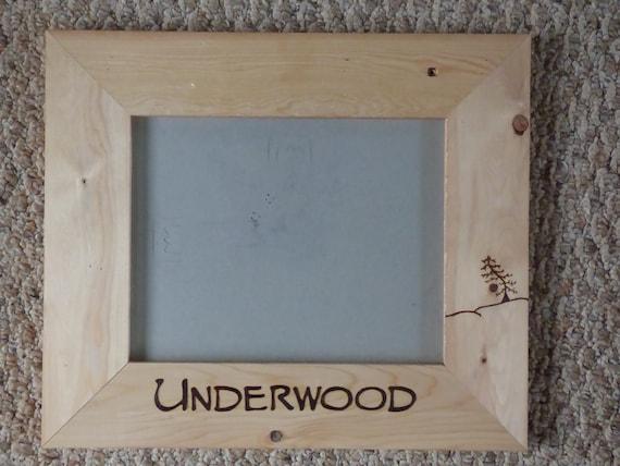 Personalized Woodburned 8x10 Frame Wedding party gift wood burned