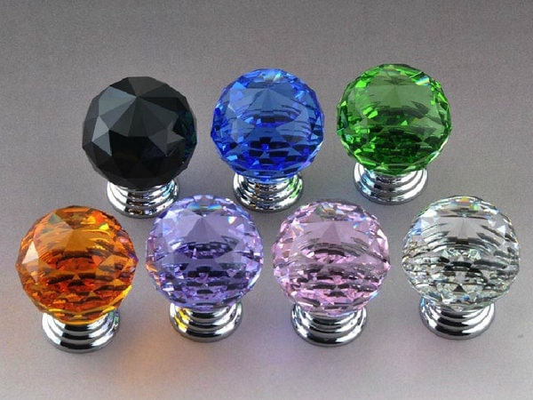 glass knobs crystal dresser knob drawer knobs pull handles. Black Bedroom Furniture Sets. Home Design Ideas