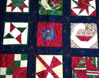 Christmas Patchwork Wall Hanging #215
