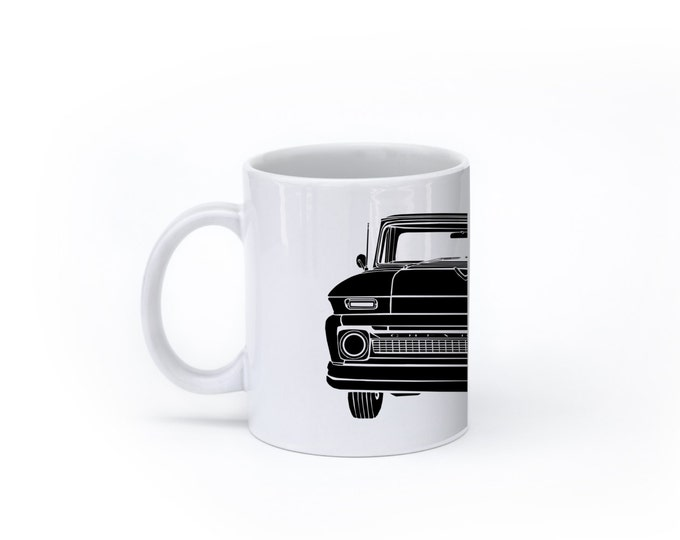 KillerBeeMoto:  U.S. Made Limited Release Vintage Era American Pickup Truck Coffee Mug (White)