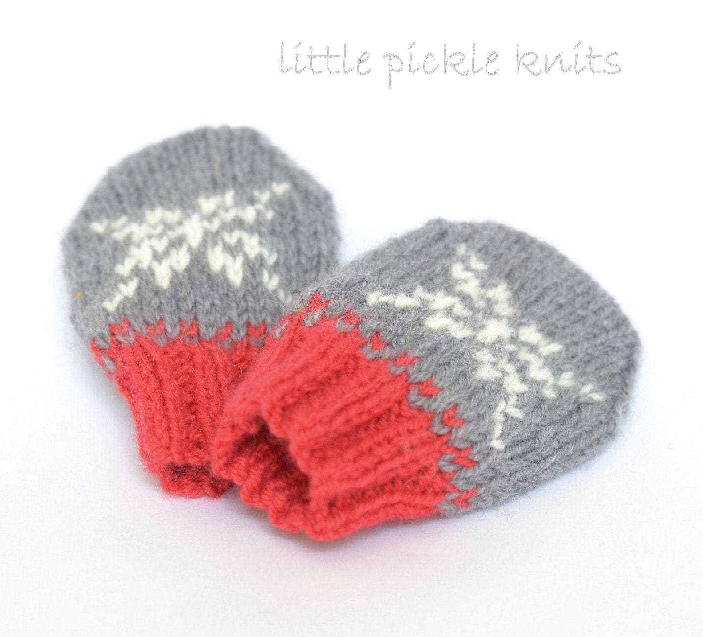 Knitting Pattern For Baby Mittens Without Thumb : BABY KNITTING PATTERNS baby mittens Little by littlepickleknits