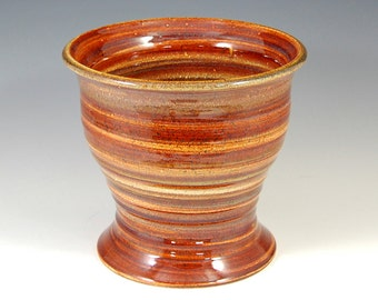 """This Carnival Glazed Utility Holder - Vase will bring beauty to your home. 7.5H"""" x 8.25"""" at mouth"""
