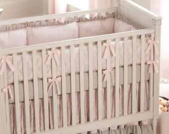 Girl Baby Crib Bedding: Paris Script 3-Piece Crib Bedding Set by Carousel Designs