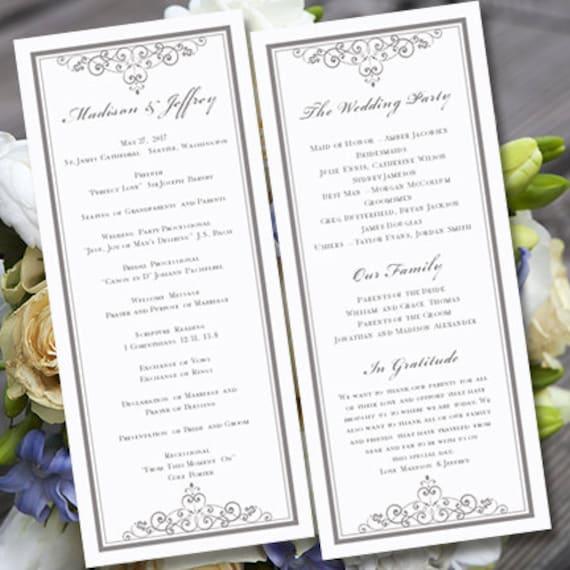 Wedding Anniversary Program Ideas: Wedding Ceremony Program Template Vintage By WeddingTemplates