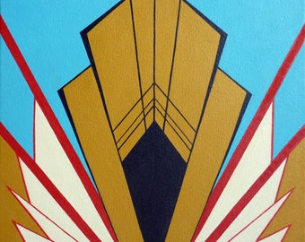 Art Deco Inspired Square Painting