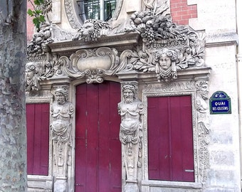 Paris Photograph Guards Of The Fuchsia Doors Fine Wall Art Ornate
