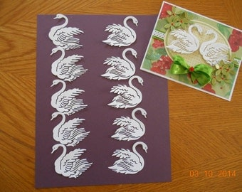 5 pairs of Swan Die cuts  total of 10
