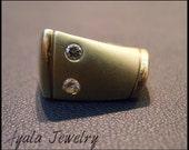 Men's Ring, 14K Gold Diamond Ring, 0.10 Carat Men's Diamond Ring, Grooms Diamond Ring, Men's Jewelry, Men Gifts, Free Shipping