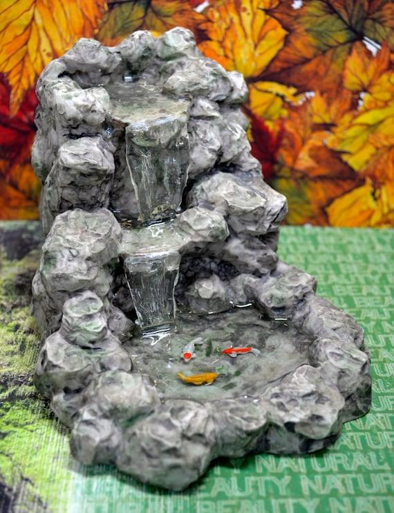 Fairy garden dollhouse miniature absolutely amazing koi pond for Mini koi pond