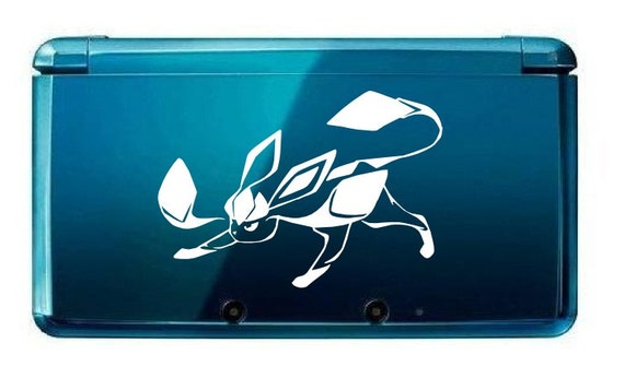 3ds Glaceon pokemon decals for nitendo 3ds, 3ds xl 2X1