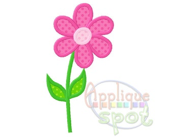 Cute Girly Flower Spring 4x4 5x7 6x10 Applique Design Embroidery Machine -Instant Download File