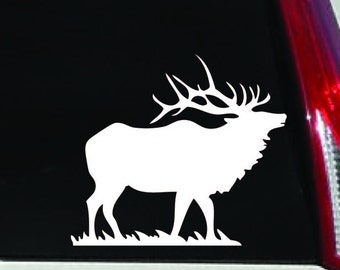 Bull Elk Vinyl Car Decal - Indoor/Outdoor Hunting Sticker