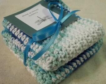 Crochet Oceanside Wash Cloths (Set of 2)