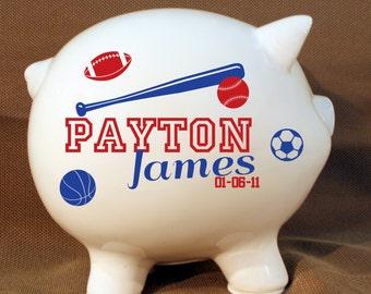 8 inch ceramic bank etsy - Extra large ceramic piggy bank ...