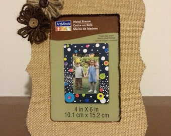 4x6 Burlap Covered Wood Frame. FREE Shipping