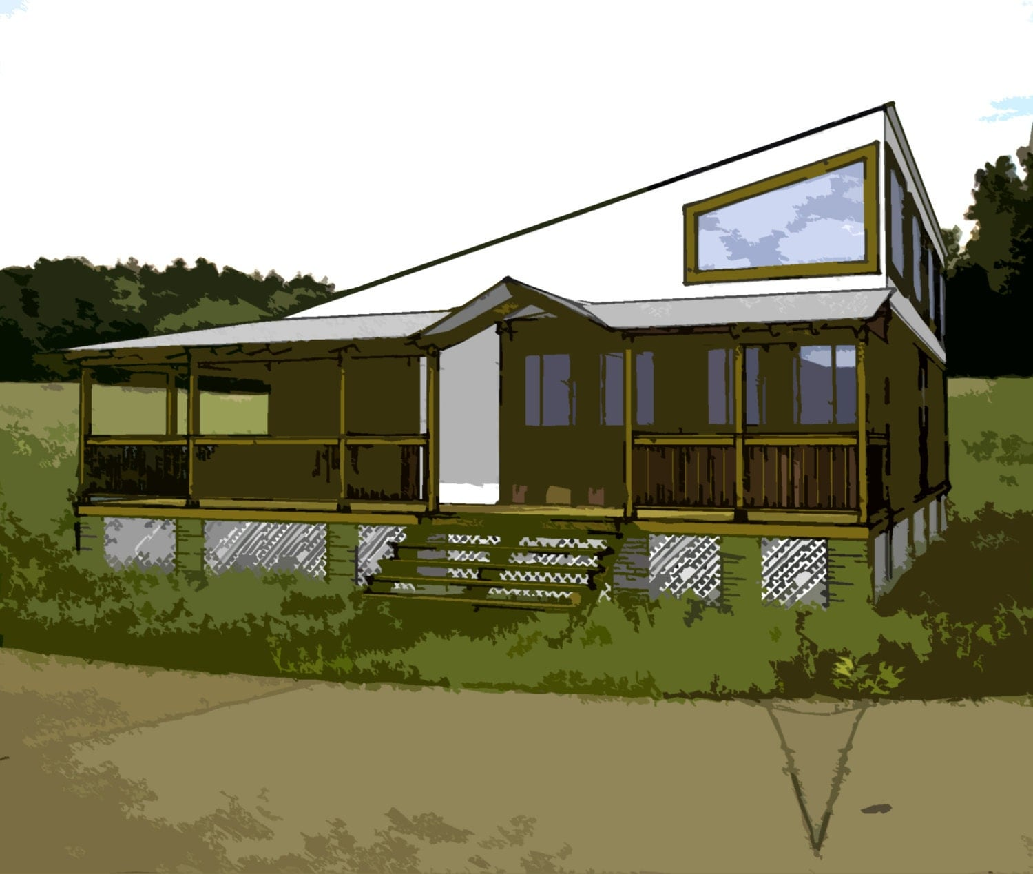 Shipping Container Plans 3 Bed 2 Bath Schematic Design 1140