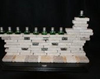 Stone Wall Menorah