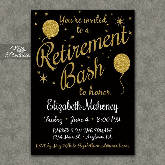 Canny image throughout free printable retirement invitations