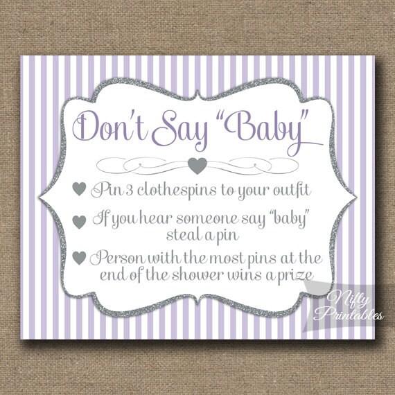 baby shower game instant download lavender baby shower lgl