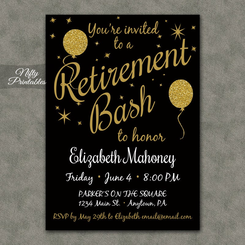 Retirement Party Invitations Printable Wood Retirement