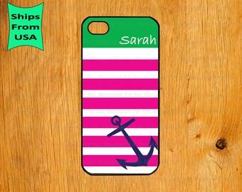 Nautical Anchor Monogram iPhone 5s Case, iPhone 5c Cover, iPhone 4 4s Cases,iPhone SE Case