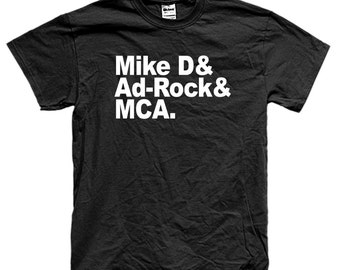 BEASTIE BOYS NAMES boyz mca mike d ad-rock t-shirt long and short sleeve many colors unisex