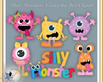 Monsters Clipart, More Monsters Under the Bed