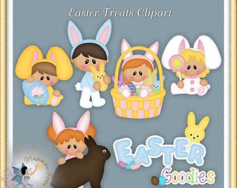 Easter Treats Clipart, Goodies and Bunny Kids