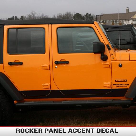 4-DOOR Jeep Wrangler JK Rocker Panel Accent Decals for