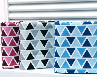 Oxford Cotton Fabric Triangle in 3 Colors By The Yard