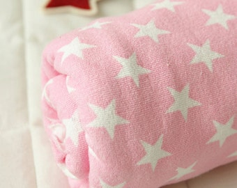 Terry Cloth Fabric Pastel Star Pink By The Yard
