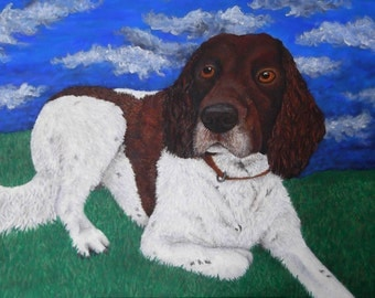 Custom Pet Portrait Acrylic on Canvas