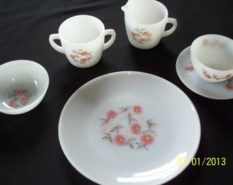 1960's Fire King Luncheon Set, for 4