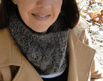 Brown Cowl Neck Warmer