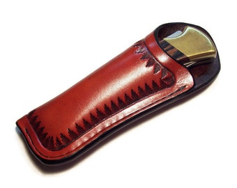 Buck 110 / Sod Buster Custom Leather Knife Sheath without belt loop grs