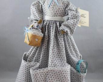 """Seamstress Sewing Helper Doll * Decorative Pin Cushion Sewing Notions and Thread Holder * The Margs """"Sew Fistrated"""" circa 1991"""