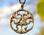 Celtic Bronze Pendant from Gallia Museum Replica Knot of Life Iron Age Jewelry Jewellery