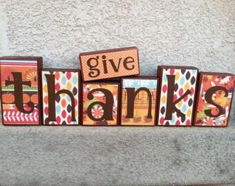 Thanksgiving blocks - give thanks