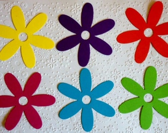 12 large Bright Flower Daisy die cuts for cards/toppers *cardmaking*scrapbooking*