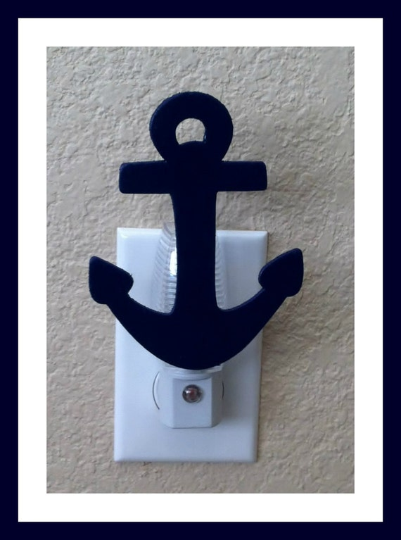 Navy Blue Nautical Anchor Night Light Nautical Kids Room