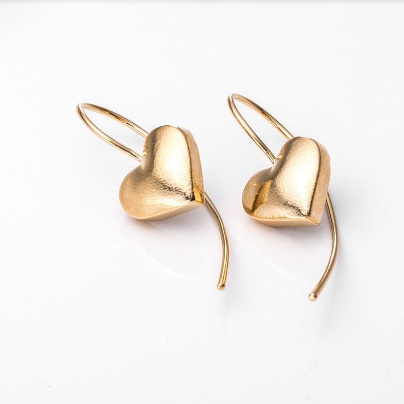 heart earrings gold - photo #7