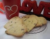 GLUTEN FREE Cherry Almond Heart Cookies - 1/2dz