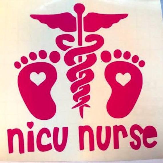 NICU Nurse Car Decal 5.25 Doctor Nurse RN PA Vinyl by ...