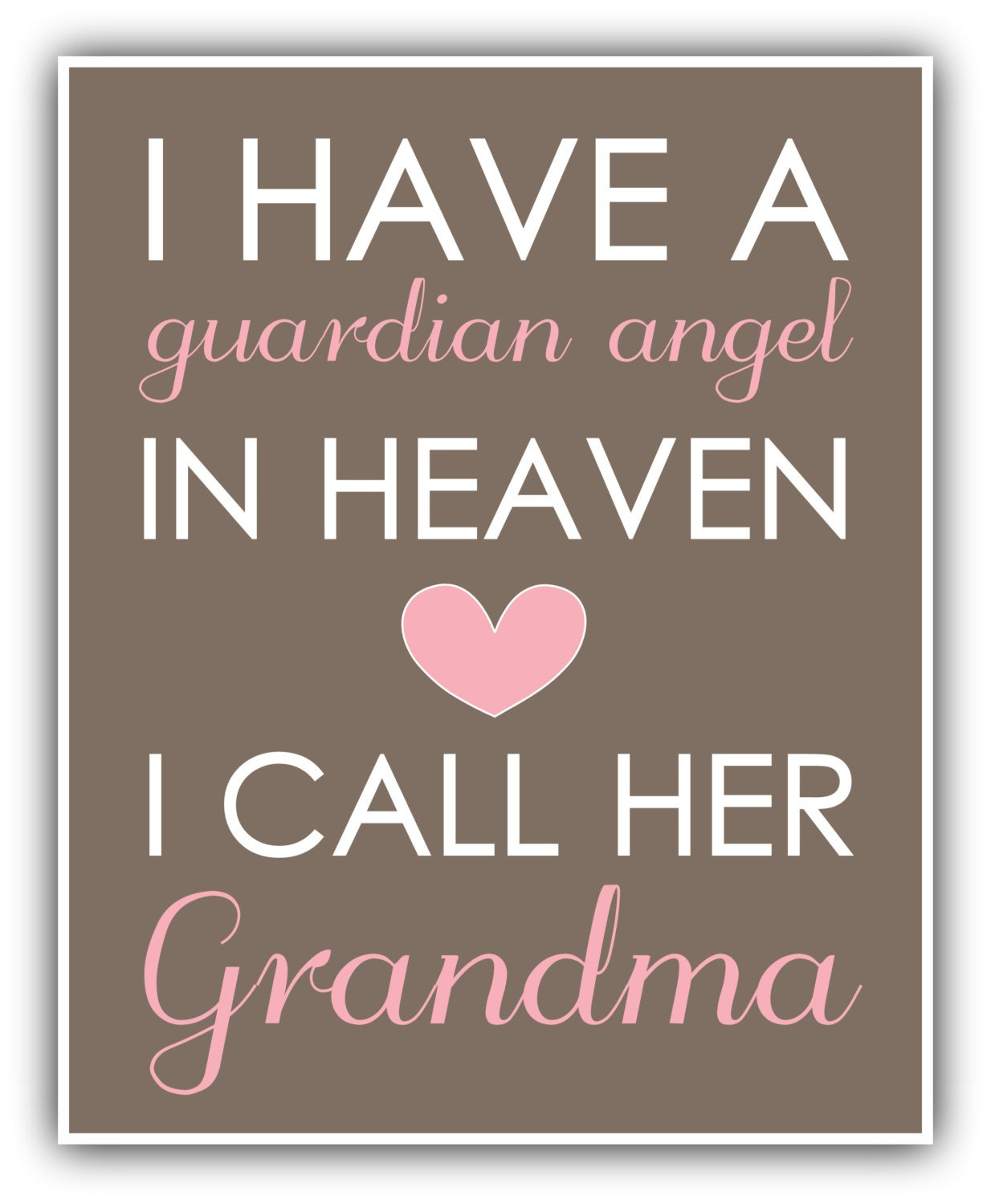 Baby Guardian Angel Quotes: I Have A GUARDIAN ANGEL In Heaven Print Personalized Art Baby