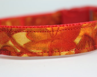 Fall Leaf Dog Collar