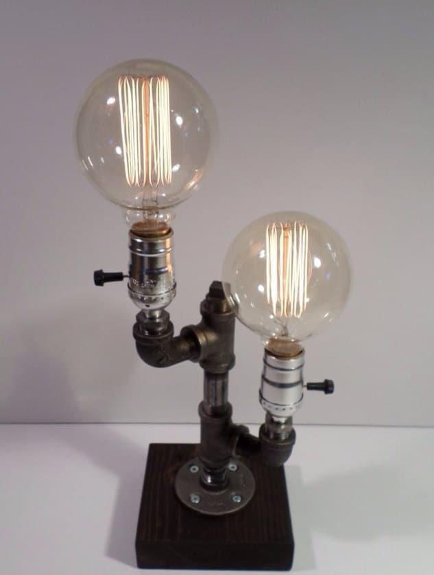 Twin Globe Edison Light Metal Desk Lamp Beautiful