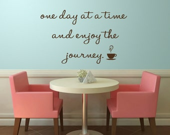 Wall Decal,Journey Quotes Decal,Wall Quote Decal,Inpirational Quotes,Removable Wall Decals,Vinyl Wall Stickers,Quote Decals,Removable Decals