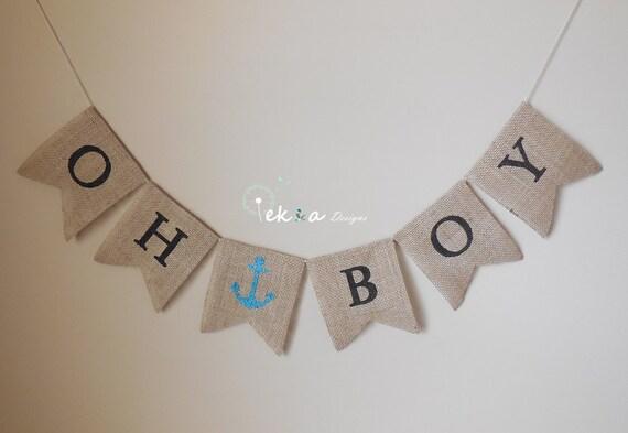 burlap banner burlap baby banner baby boy bunting baby shower